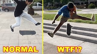 Most Exaggerated Skateboard Tricks