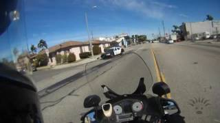 Police Motorcycle Responding Code 3 - Assist Officer