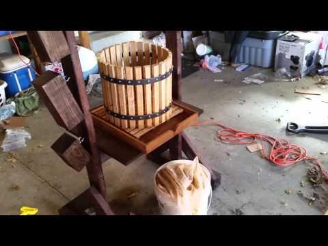 Apple Cider Press - Make your own apple cider press. and grinder