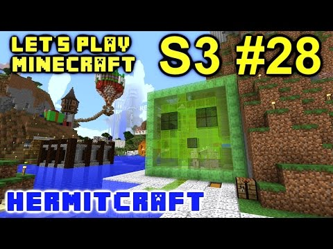 Minecraft Amplified Survival Ep. 28 - Slime Jump Boosts !!! ( Hermitcraft Server )