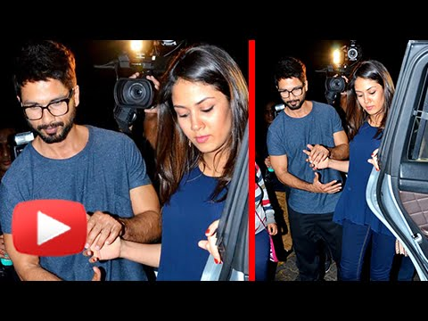 Shahid Kapoor Takes His Pregnant Wife Mira On A Dinner