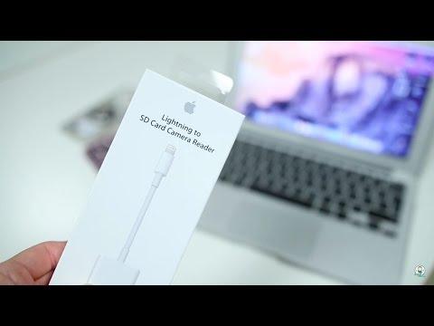 استعراض قطعة نقل الصور والفيديو من الكاميرا للايفون بسهولة وسرعة lightning to sd card camera reader
