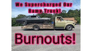 The Ramp Truck Gets a Blower! Burnouts for Days! Finnegan's Garage Ep.107