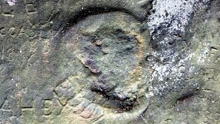 Weird Engravings of Indian God Rock - Petroglyphs Of Pennsylvania