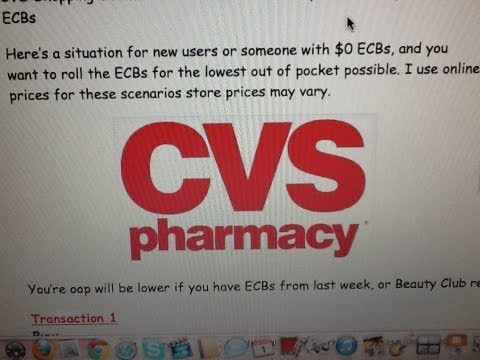 CVS Shopping Scenario 6/2/13 to 6/7/13 Coupons Starting with no ECBs