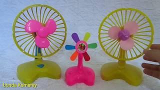Toys Mini fan yellow pink funny - quạt mini