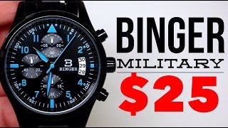 (4K) BINGER MILITARY CHRONOGRAPH MEN