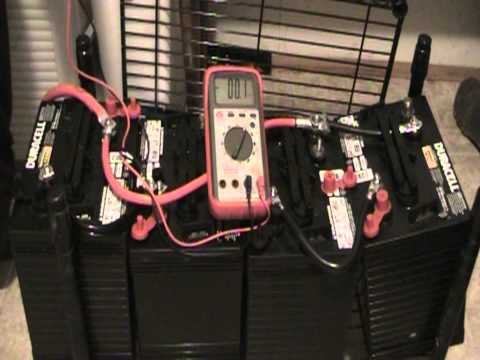 Solar Panel Project; Pt.1 Wiring 6 volt batteries in Series Parallel. and inverter