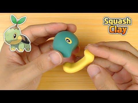 Making Shiny Turtwig (Pokémon) in Clay step by step