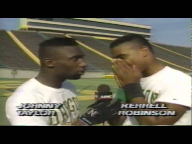 Oregon Ducks rap for ABC during the 9-29-1990 BYU-Oregon game