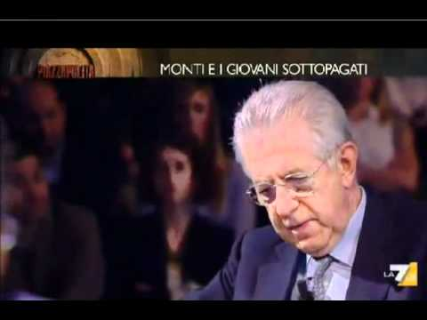 Piazza Pulita, Mario Monti in merito alla questione lavoro in Italia, da non perdere!