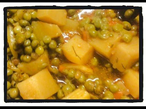 Тушеный зелёный горошек с картошкой / Аракас