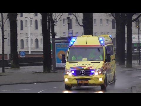 2X Ambulance Amsterdam 13-117 {Post Nico} met spoed naar meldingen in Amsterdam.