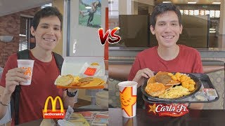 McDonalds VS Burger King VS Carls Jr ¿Cuál es mejor? -  Un día comiendo