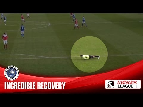 Incredible recovery after comedy tumble