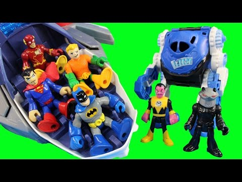 Imaginext Flash Superman Batman Flash Cyborg & Aquaman Try To Stop Injustice League Tryouts
