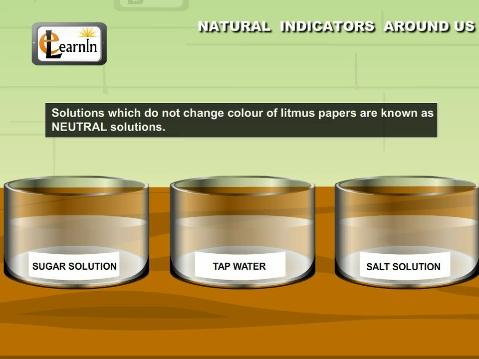 Natural indicators explained with an experiment Color change definition science