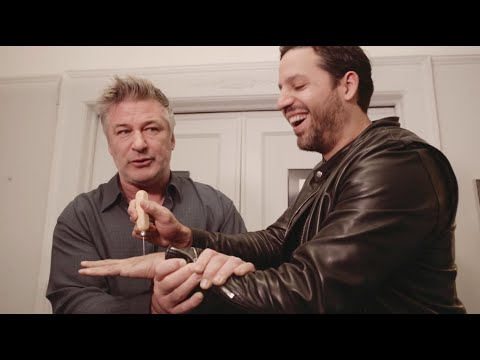 Watch David Blaine Push an Ice Pick Through His Hand for Alec Baldwin