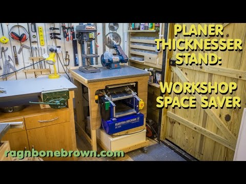 Making A Workshop Space-Saving Stand for the Electra Beckum HC260 planer/thicknesser