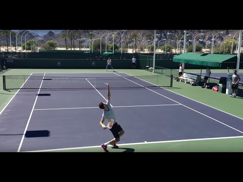 Grigor Dimitrov Tomas Berdych 2014 Indian Wells Practice 3.8.14 BNP Paribas Open
