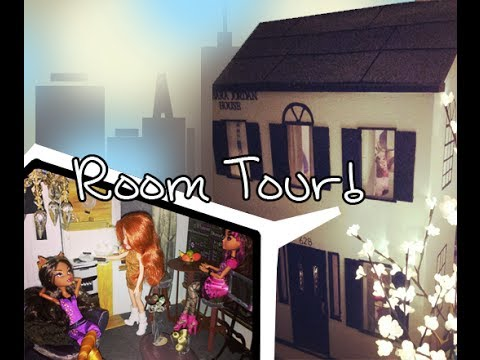 1:6 scale Monster High. Bratz doll. Barbie. EverAfter high Dollhouse Dormroom tour