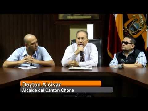 Rueda de prensa - Autoridades GADM Chone, Ecuador Estratégico y Coinfra