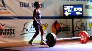 Zoe Smith Clean and Jerk 93 Kg @ European Youths 2009 - Israel, Eilat
