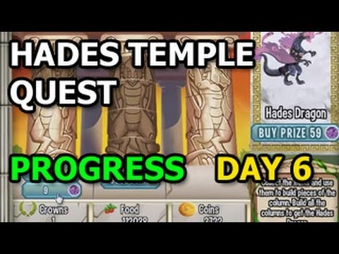 OLYMPUS ISLAND Hades Temple Quest Progress in Dragon City DAY 6