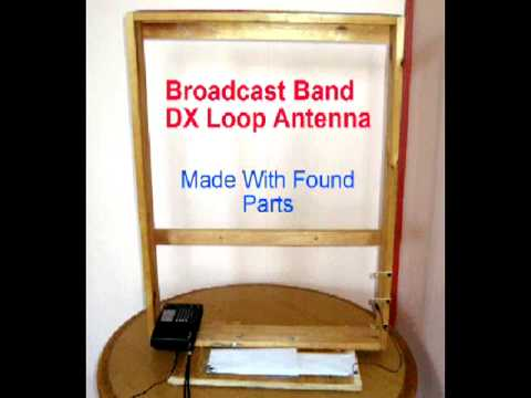 AM broadcast DX Loop Antenna  made with Found Parts