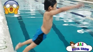 Kid swimming in the pool | Kids swimming lessons | Jai Bista Show