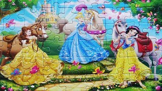 disney princess puzzle for girls toys kids learning jigsaw how to make puzzles aurore cinderella