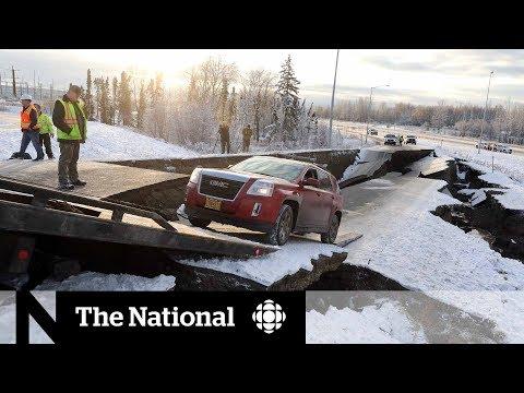 Powerful earthquakes buckle Alaska roads, briefly trigger tsunami warning