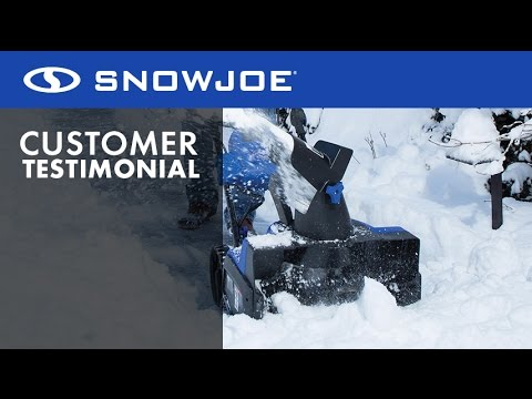 Snow Joe iON18SB Cordless Snow Blower - Demo Video