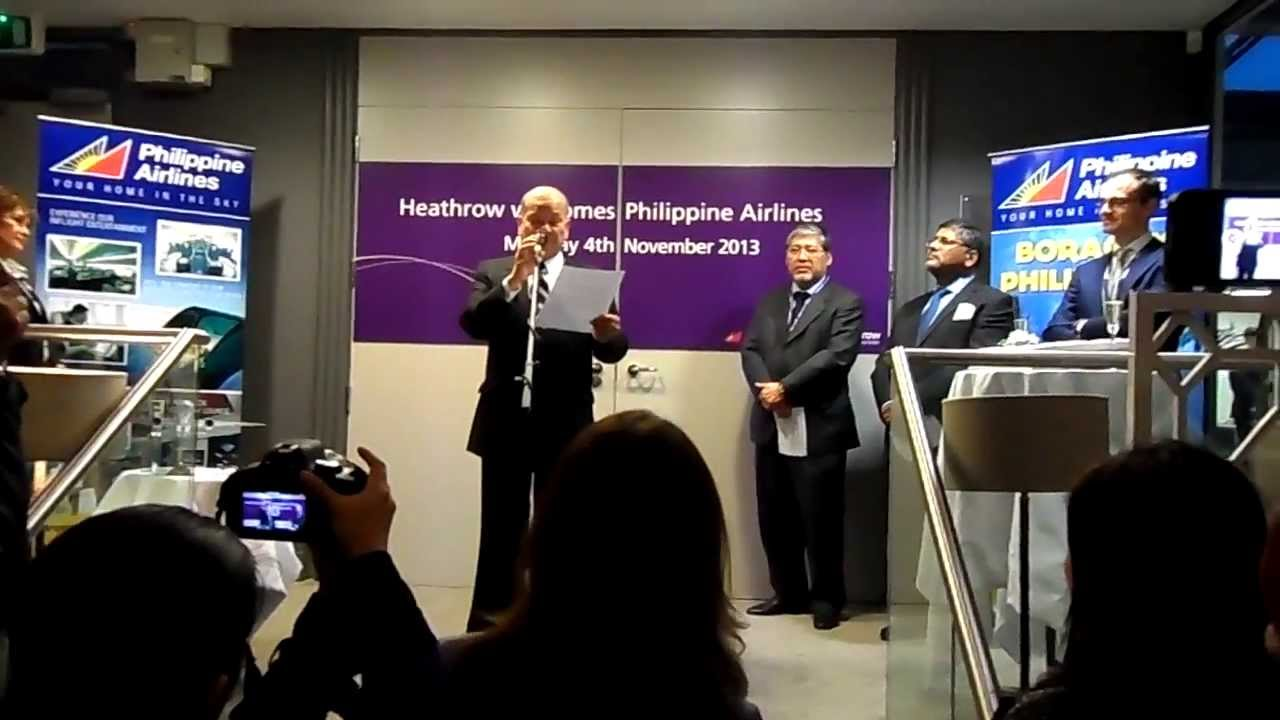 Mr Ramon Ang speech at the Philippine Airlines London ...