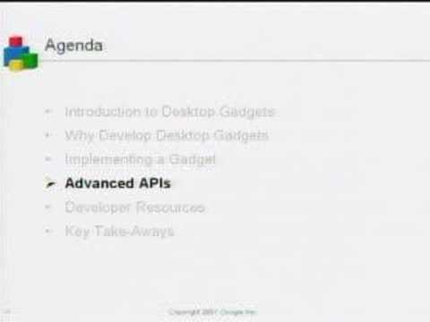 Google Developers Day US - Google Desktop Gadgets