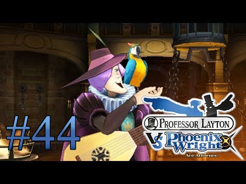 Let's Play Professor Layton Vs. Phoenix Wright Ace Attorney #44 Papagei im Zeugenstand?!