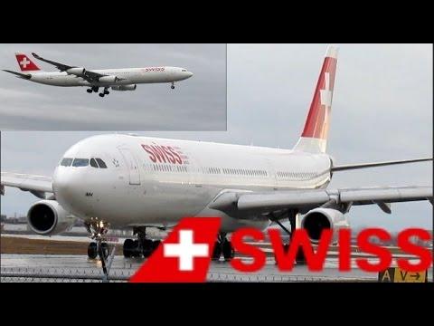 Swiss A340-313X (A343) landing & departing YUL