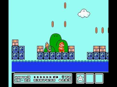 Super Mario Bros 3 - count how many times i die in world 3-8 to Big Bertha - User video