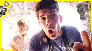 EXPLORING ABANDONED CAVES by the SEA for MYSTERY CLUES!