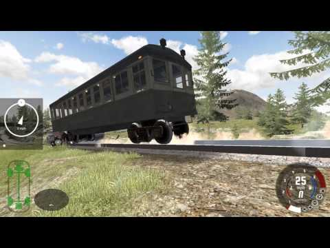 Train Crash Test   Beamng Drive