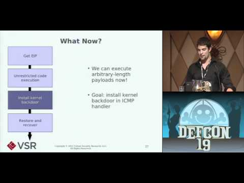 DEFCON 19: Owned Over Amateur Radio: Remote Kernel Exploitation in 2011 (w speaker)