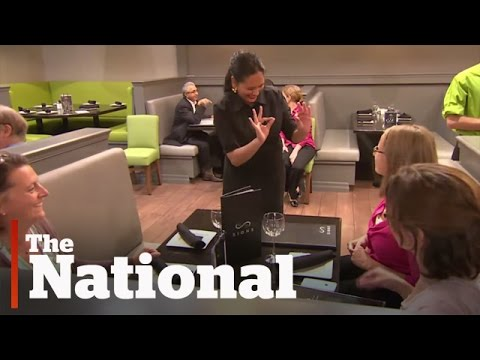 New Toronto restaurant staffed with deaf waiters