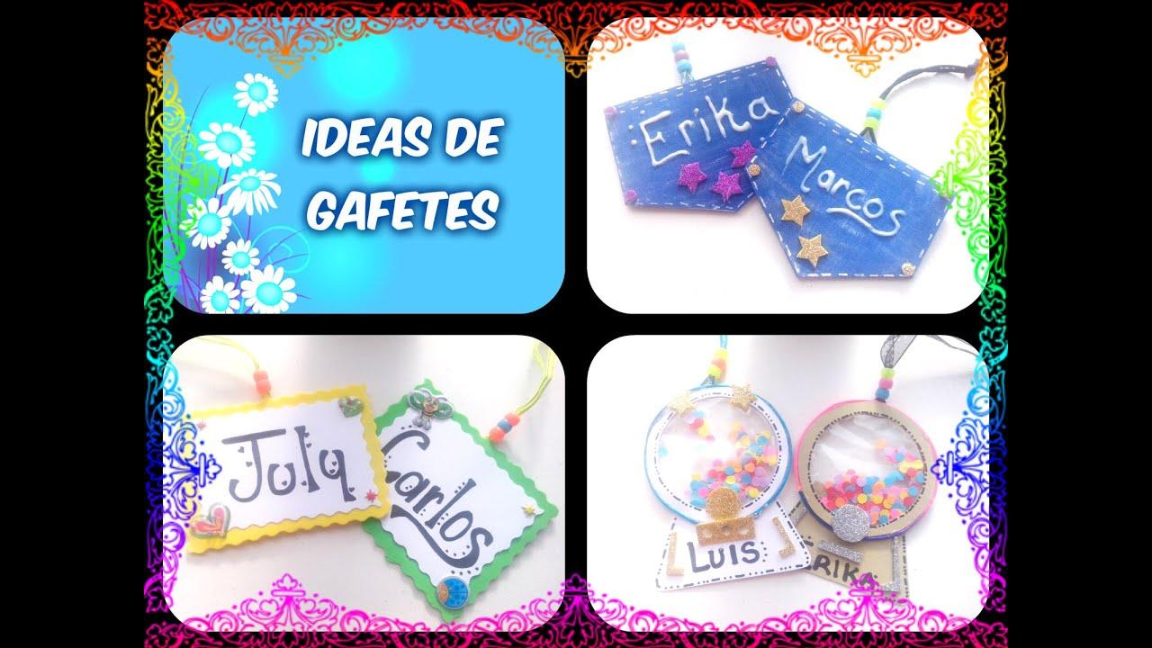 Imagenes De Gafetes Para Preescolar