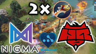 CRAZY GAME 1 in EU+CIS GRAND FINAL !!! NIGMA vs HR - WeSave! Charity Play DOTA 2