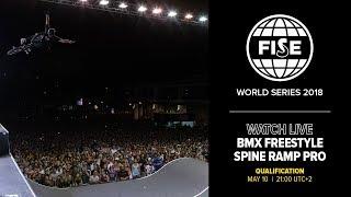 FWS MONTPELLIER 2018: BMX Freestyle Spine Ramp Pro Qualification