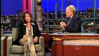 Steven Tyler on the Late Show with David Letterman