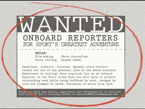 Onboard Reporters Wanted - Volvo Ocean Race 2014-15