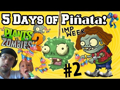 Lets Play PVZ 2 Pinata Party for 5 Days Straight! PART TWO! (Plants vs. Zombies iOS) Face Cam