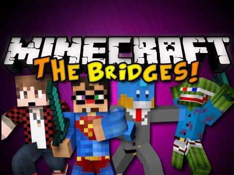 Minecraft Mini-Game: THE BRIDGES w/ BajanCanadian, HuskyMudkpiz, & Bashur! (HD)
