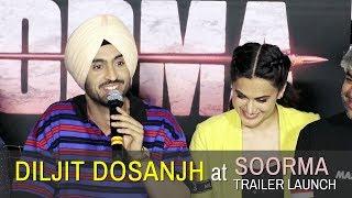 DILJIT DOSANJH at SOORMA Trailer Launch   DESIblitz